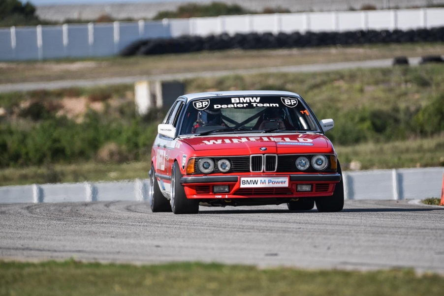 May 2017: Paolo in the Group 1 Winfield BMW E23 745i at the BMW SA M Media Track Experience in PE